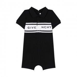Хлопковое боди Givenchy. Цвет: чёрный