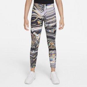 Леггинсы с принтом для девочек школьного возраста Sportswear Favorites - Белый Nike