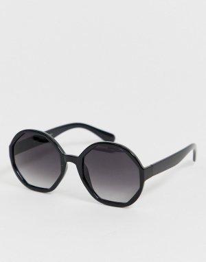 Черные большие солнцезащитные очки -Черный AJ Morgan
