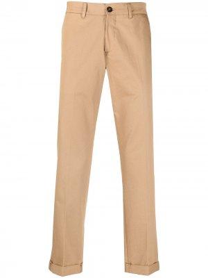 Прямые брюки чинос Golden Goose. Цвет: нейтральные цвета