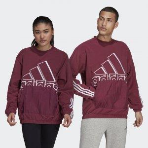 Джемпер из поларфлиса Essentials Giant Logo (Унисекс) Sportswear adidas. Цвет: черный