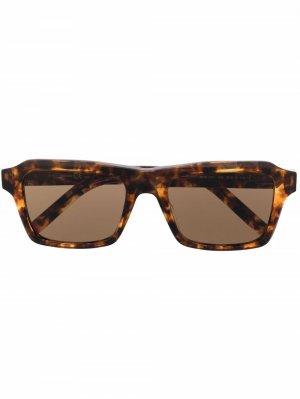 Солнцезащитные очки в квадратной оправе Kenzo. Цвет: коричневый