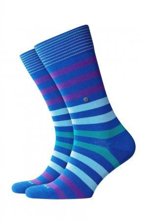 Синие носки Blackpool в полоску Burlington. Цвет: голубой