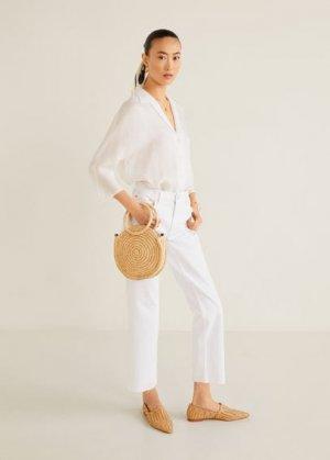 Укороченные джинсы straight - Sayana Mango. Цвет: белый