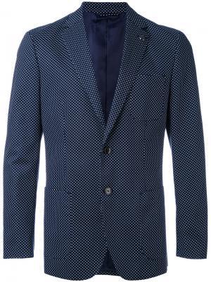 Классический пиджак Michael Kors. Цвет: синий