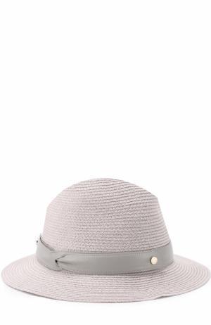 Шляпа с лентой Inverni. Цвет: светло-серый