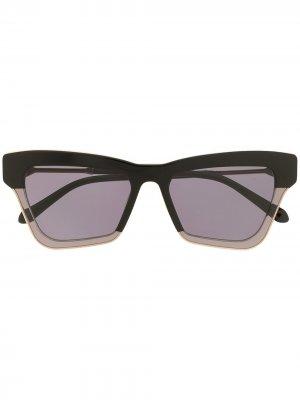 Солнцезащитные очки Dark Matter Karen Walker. Цвет: черный