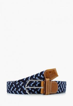 Ремень Churchill accessories. Цвет: синий