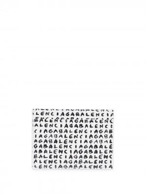 Картхолдер с логотипом Balenciaga. Цвет: белый