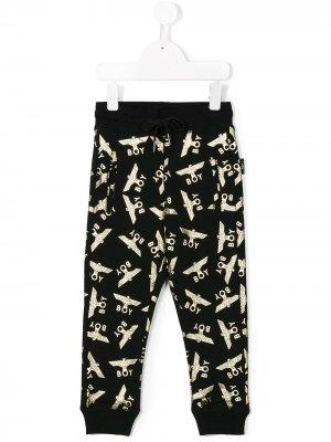 Спортивные брюки с принтом логотипа Boy London Kids. Цвет: черный
