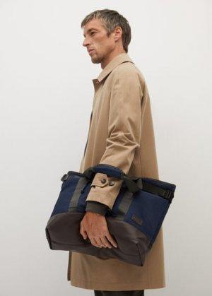 Холщовая сумка тоте с карманами - Valley Mango. Цвет: синий