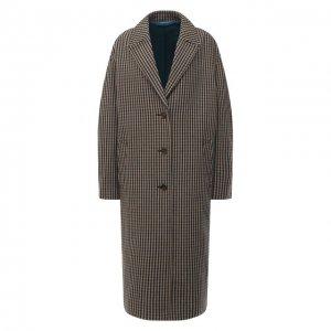 Шерстяное пальто Acne Studios. Цвет: бежевый