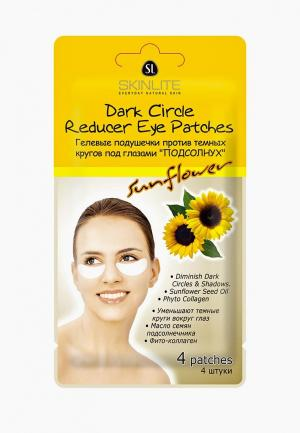 Набор для ухода за кожей вокруг глаз Skinlite Патчи против темных кругов. ПОДСОЛНУХ, 4шт. Цвет: белый