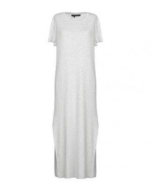 Платье длиной 3/4 360SWEATER. Цвет: светло-серый