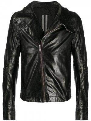 Байкерская куртка с объемным воротником Rick Owens. Цвет: черный