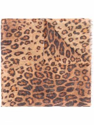 Двусторонний шелковый шарф ETRO. Цвет: нейтральные цвета
