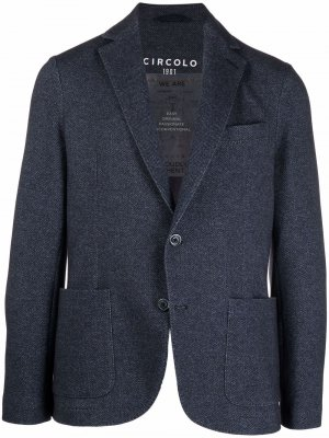 Пиджак с узором в елочку Circolo 1901. Цвет: синий