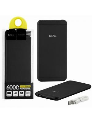 Power Bank 6000 mAh UPB03 Black. Hoco. Цвет: черный