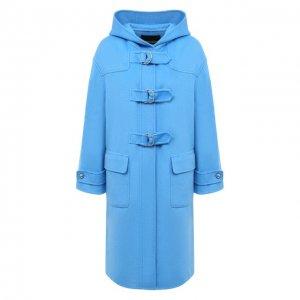 Шерстяное пальто Ermanno Scervino. Цвет: синий