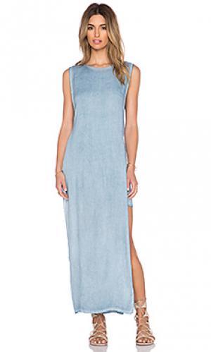 Макси платье nile YFB CLOTHING. Цвет: синий