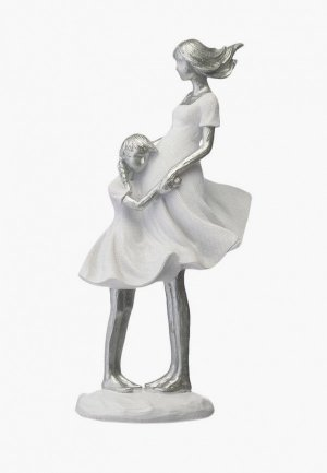 Фигурка декоративная Decogallery Мама с детьми. Цвет: белый