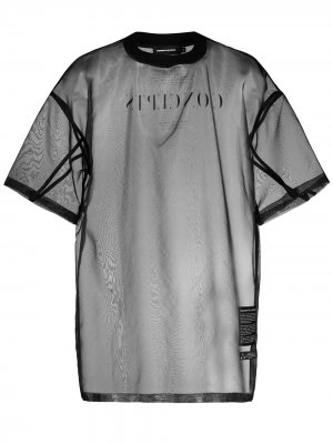 Полупрозрачная футболка с принтом Concept Odeur. Цвет: черный