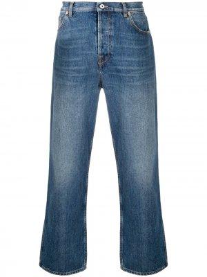 Прямые джинсы с логотипом VLogo Valentino. Цвет: синий