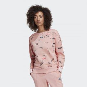 Свитшот R.Y.V. Originals adidas. Цвет: розовый