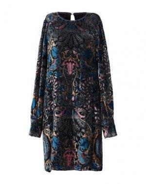 Короткое платье HALE BOB. Цвет: свинцово-серый