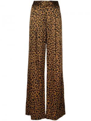 Широкие брюки Michelle Mason. Цвет: коричневый