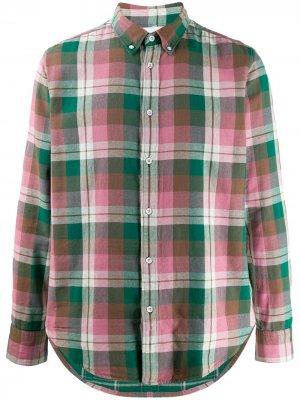 Рубашка в клетку Rag & Bone. Цвет: зеленый