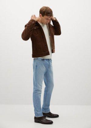 Вельветовая куртка на подкладке из искусственной овчины - Morys Mango. Цвет: коньячный