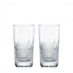 Набор из двух стаканов для воды Nancy Baccarat. Цвет: прозрачный