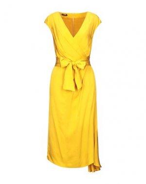 Платье до колена HANITA. Цвет: охра