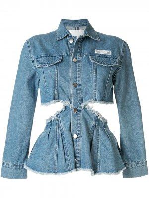 Джинсовая куртка с вырезными деталями Ground Zero