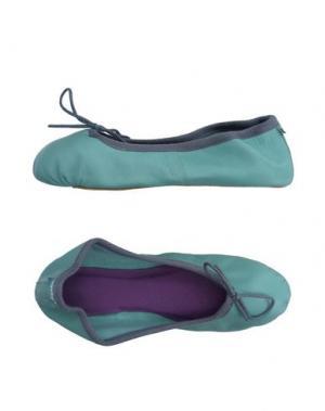 Домашние туфли FLIP FLOP. Цвет: бирюзовый
