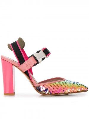 Босоножки на каблуке Alberto Gozzi. Цвет: розовый