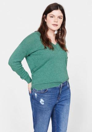 Пуловер Violeta by Mango - CASHLINI. Цвет: зеленый