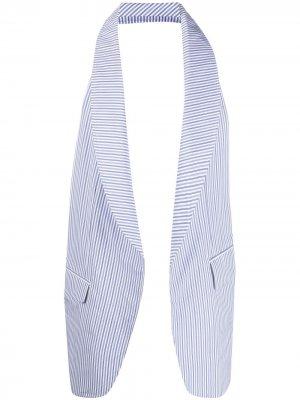 Деконструированный жилет в полоску Comme Des Garçons Shirt. Цвет: синий