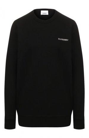 Хлопковый свитшот Burberry. Цвет: черный