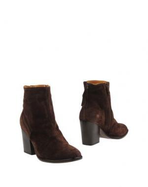 Полусапоги и высокие ботинки ALBERTO FERMANI. Цвет: темно-коричневый