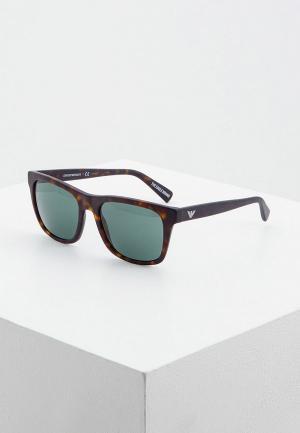 Очки солнцезащитные Emporio Armani EA4142 508971. Цвет: коричневый