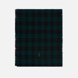 Шарф Reversible Tartan Polo Ralph Lauren. Цвет: чёрный