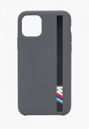 Чехол для iPhone BMW 11 Pro, M-Collection Liquid silicone Vert stripe Dark grey. Цвет: серый
