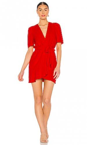 Мини платье bonjour Amanda Uprichard. Цвет: красный