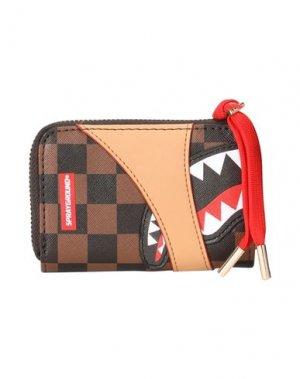 Бумажник SPRAYGROUND. Цвет: коричневый