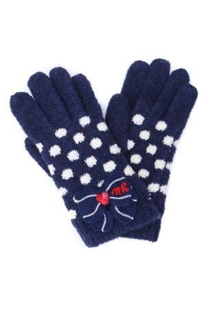 Перчатки для девочки MIKI HOUSE. Цвет: синий