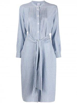 Платье-рубашка в полоску Aspesi. Цвет: синий