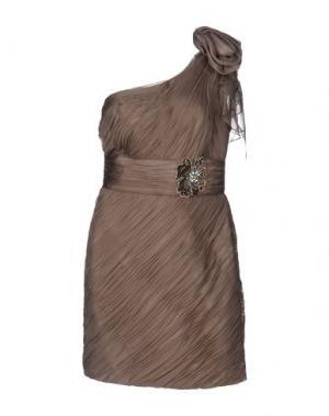 Короткое платье CARLO PIGNATELLI. Цвет: хаки