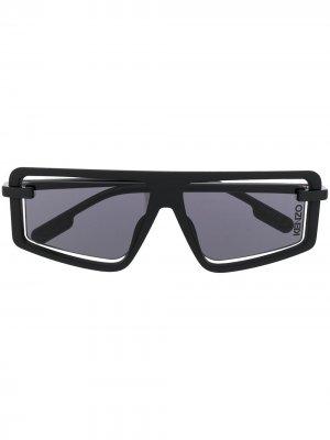 Солнцезащитные очки в квадратной оправе Kenzo. Цвет: черный